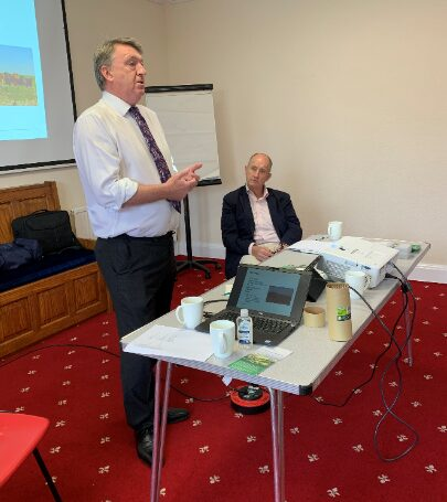 Paul Caldwell and Kevin Hollinrake MP at Roundtable event